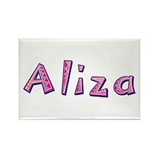 Aliza Pink Giraffe Rectangle Magnet