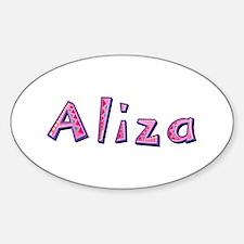 Aliza Pink Giraffe Oval Decal