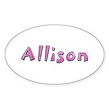 Allison Pink Giraffe Oval Decal