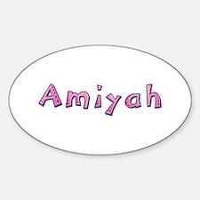 Amiyah Pink Giraffe Oval Decal
