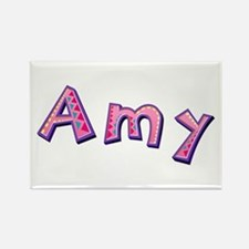 Amy Pink Giraffe Rectangle Magnet