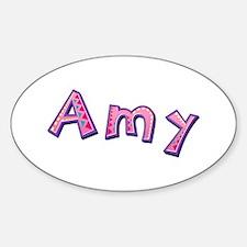Amy Pink Giraffe Oval Decal