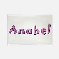 Anabel Pink Giraffe Rectangle Magnet
