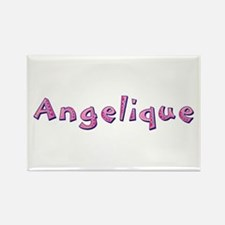 Angelique Pink Giraffe Rectangle Magnet