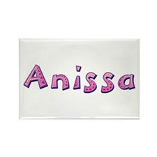 Anissa Pink Giraffe Rectangle Magnet
