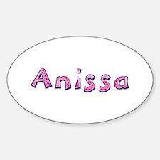 Anissa Pink Giraffe Oval Decal