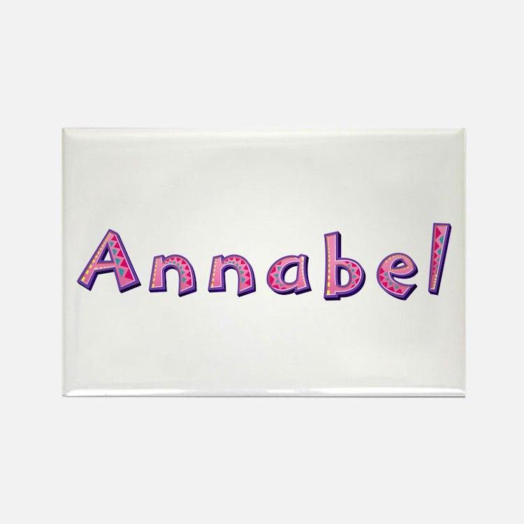Annabel Pink Giraffe Rectangle Magnet