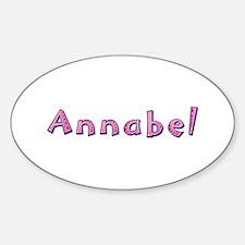 Annabel Pink Giraffe Oval Decal