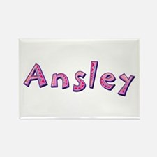 Ansley Pink Giraffe Rectangle Magnet