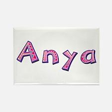 Anya Pink Giraffe Rectangle Magnet