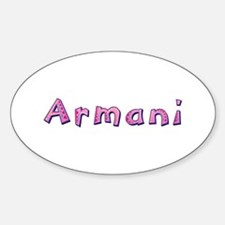 Armani Pink Giraffe Oval Decal