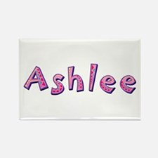 Ashlee Pink Giraffe Rectangle Magnet