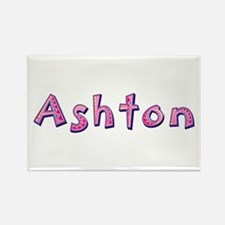 Ashton Pink Giraffe Rectangle Magnet