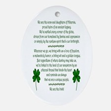 We Are the Irish Ornament (Oval)
