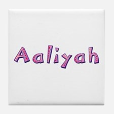 Aaliyah Pink Giraffe Tile Coaster