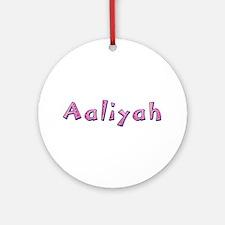 Aaliyah Pink Giraffe Round Ornament
