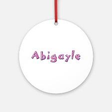 Abigayle Pink Giraffe Round Ornament