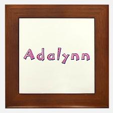 Adalynn Pink Giraffe Framed Tile