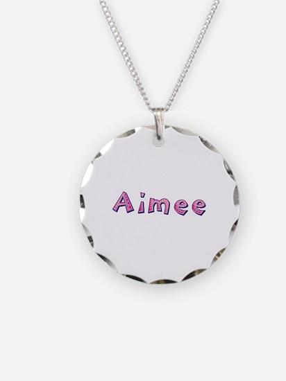 Aimee Pink Giraffe Necklace