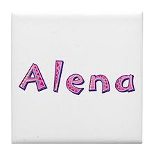 Alena Pink Giraffe Tile Coaster