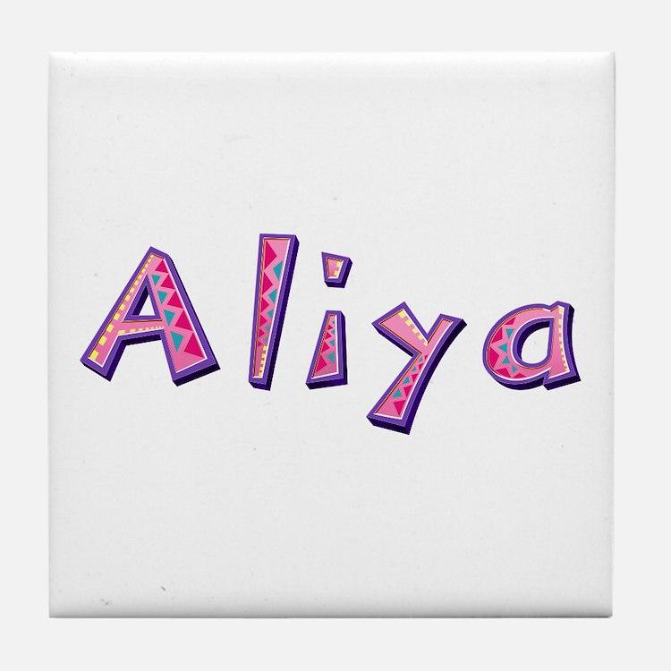 Aliya Pink Giraffe Tile Coaster