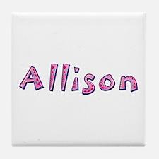 Allison Pink Giraffe Tile Coaster