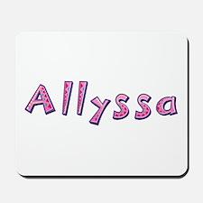 Allyssa Pink Giraffe Mousepad