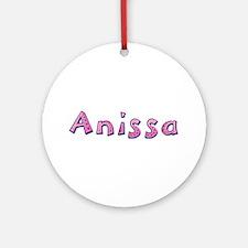 Anissa Pink Giraffe Round Ornament