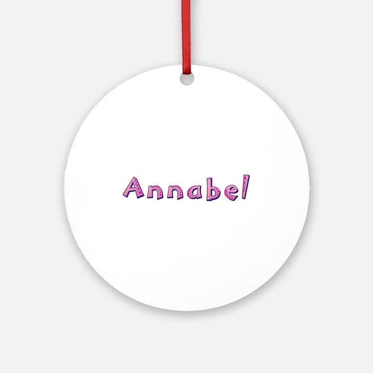 Annabel Pink Giraffe Round Ornament