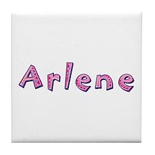 Arlene Pink Giraffe Tile Coaster