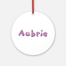 Aubrie Pink Giraffe Round Ornament