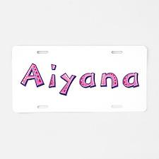 Aiyana Pink Giraffe Aluminum License Plate