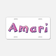 Amari Pink Giraffe Aluminum License Plate