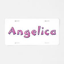 Angelica Pink Giraffe Aluminum License Plate