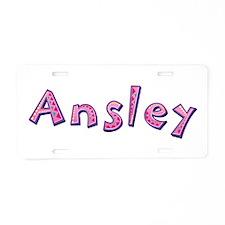 Ansley Pink Giraffe Aluminum License Plate