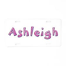 Ashleigh Pink Giraffe Aluminum License Plate