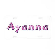 Ayanna Pink Giraffe Aluminum License Plate