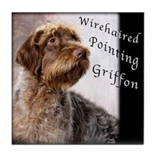 Wirehaired Pointing Griffon Tile Coaster