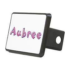 Aubree Pink Giraffe Hitch Cover