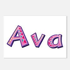 Ava Pink Giraffe Postcards 8 Pack