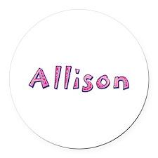 Allison Pink Giraffe Round Car Magnet