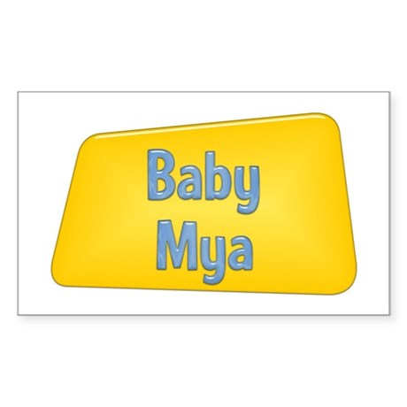 Baby Mya Rectangle Sticker