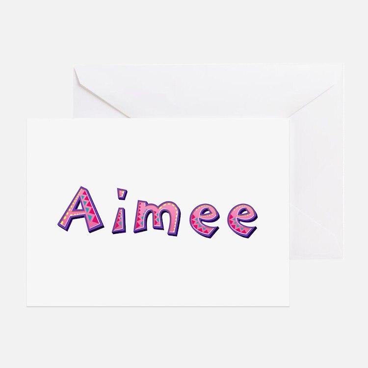 Aimee Pink Giraffe Greeting Card