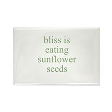 bliss is eating sunflower see Rectangle Magnet