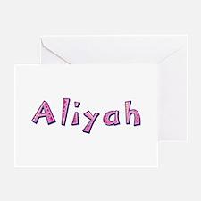 Aliyah Pink Giraffe Greeting Card