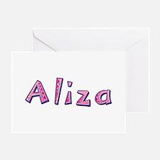 Aliza Pink Giraffe Greeting Card
