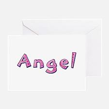 Angel Pink Giraffe Greeting Card