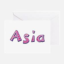 Asia Pink Giraffe Greeting Card