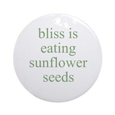 bliss is eating sunflower see Ornament (Round)