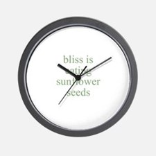 bliss is eating sunflower see Wall Clock